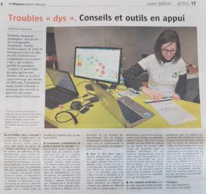 Article Le Télégramme du 07 avril 2017 - Rencontre autour des troubles Dys - Kardi.fr