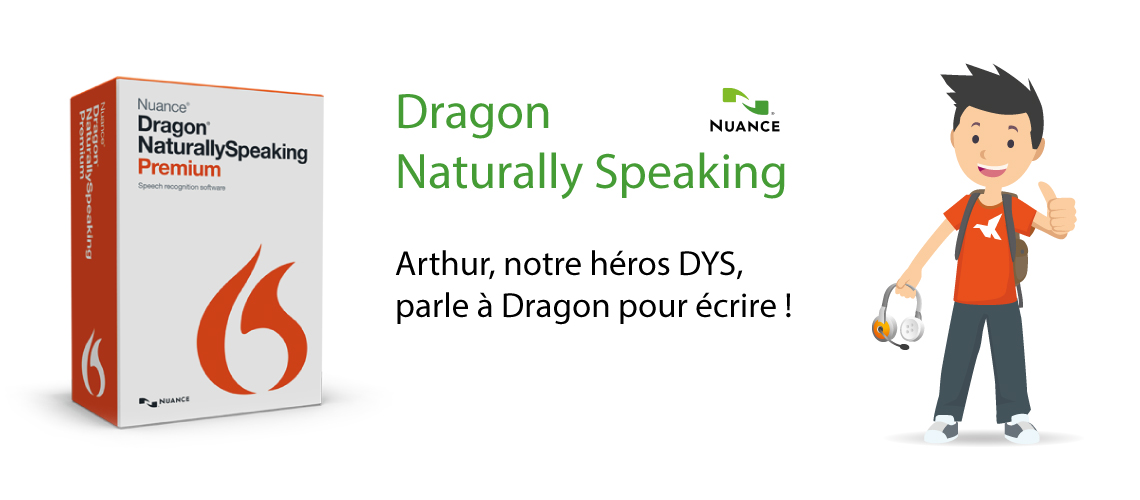 Bandeau Dragon Naturally Speaking Premium - Reconnaissance vocale