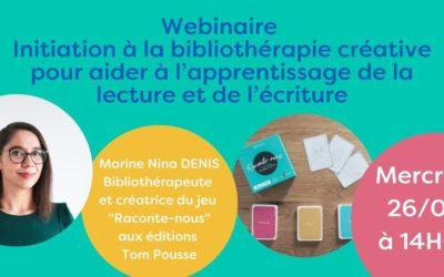 Webinaire : Initiation à la bibliothérapie créative avec Marine Nina Denis